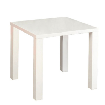 Masa dining, alb extra lucios HG,80x76x80 cm, ASPER NEW TYP 50