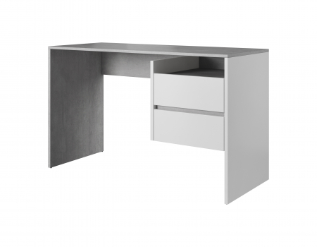 Masa PC, beton/alb mat,125x75.5x51.6 cm, mobHAUS,PACO0