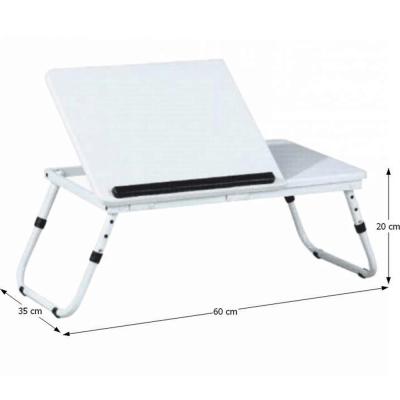 Măsuţa pentru notebook/suport pentru tablete, alb, EVALD1