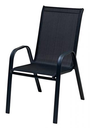 Scaun stivuibil, negru ,pentru gradina ,72 x 54 x 92 cm,metal / textilen - Copie0