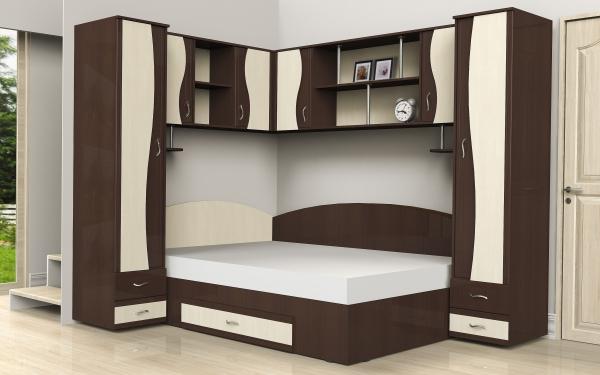 Dormitor tineret  pe colt Andreea 0