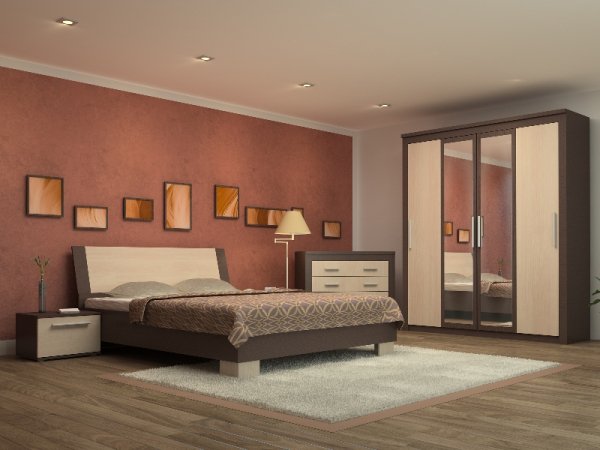 Dormitor Coral cu Pat 160  0