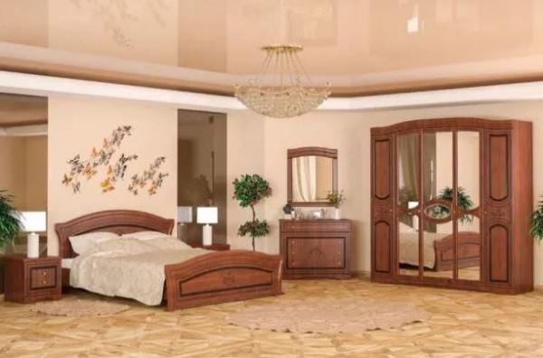 Dormitor Fermina Nuc Dulap 5 usi