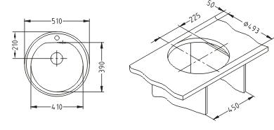 Chiuveta incastrabila Form 30 leinen 2