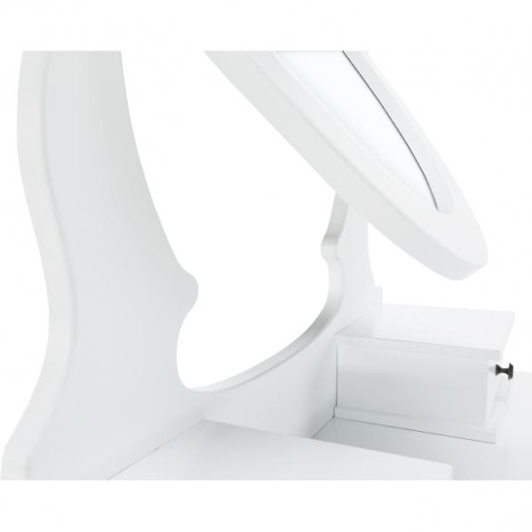 masa-toaleta-taburet-oglinda-alb 3