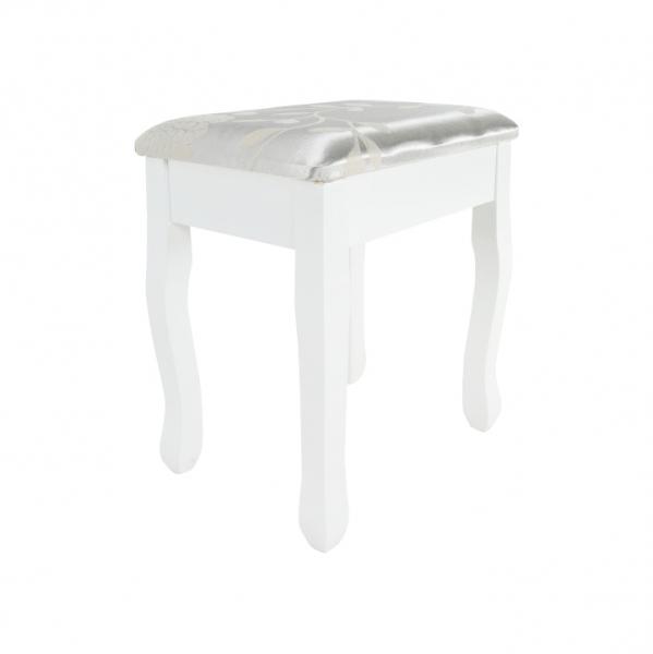 masa-toaleta-taburet-oglinda-alb 2