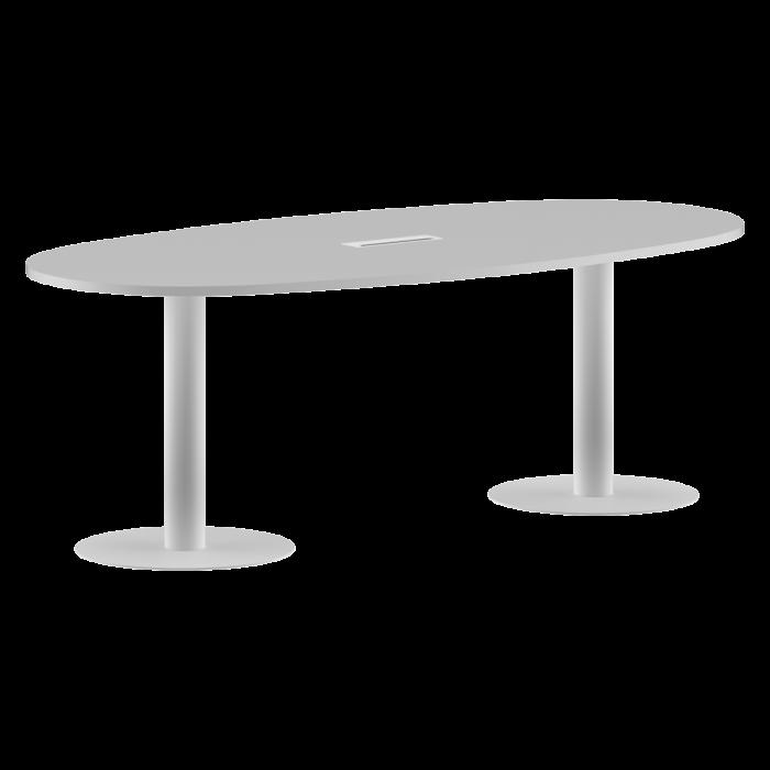 masa-sedinta-ovala-alba-picior- metalic [0]