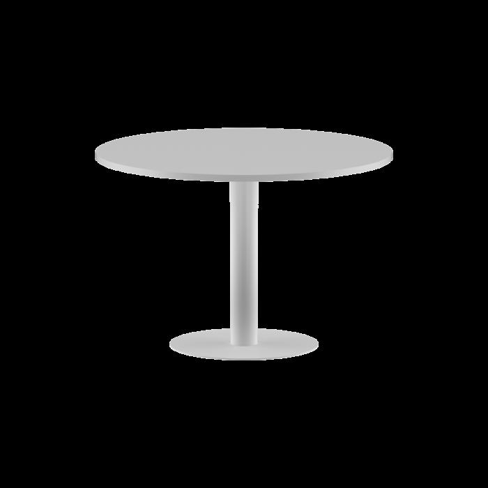 masa-sedinta-rotunda-alba-picior- metalic [0]