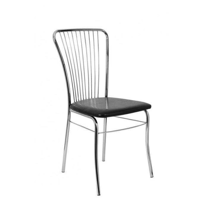 scaun-bucatarie-crom-sezut-negru [0]