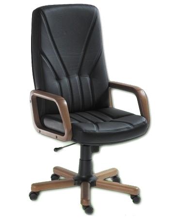 scaun-directorial-5900-piele-neagra 0