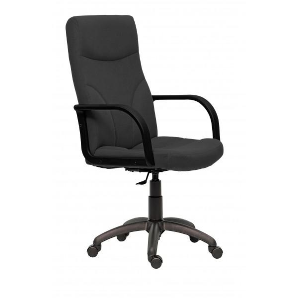 Scaun birou ergonomic Riva stofa neagra 0