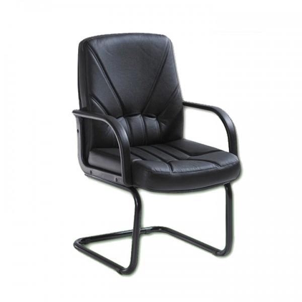 Scaun conferinta 5550/S piele neagra 1