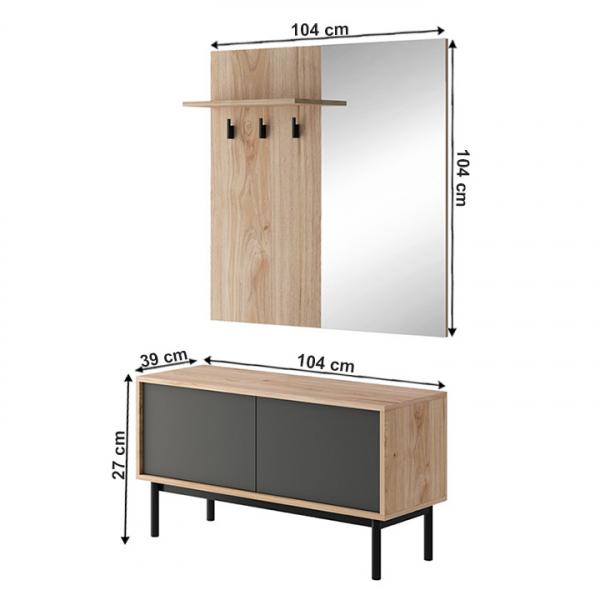 set-hol-cuier-oglinda 1