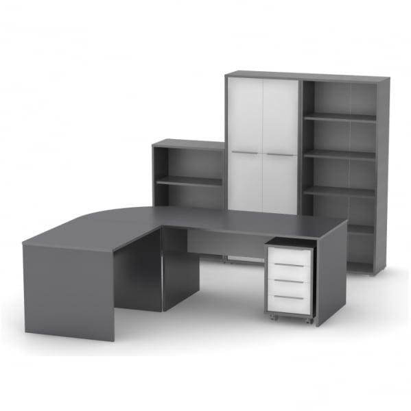set-mobila-birou-grafit-alb