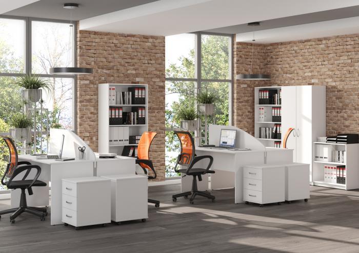 set-mobilier-birou-operational-alb 0