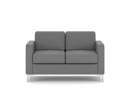 Canapea Aktiv 2 locuri,136 x 83 x 83 cm, piele ecologica gri0