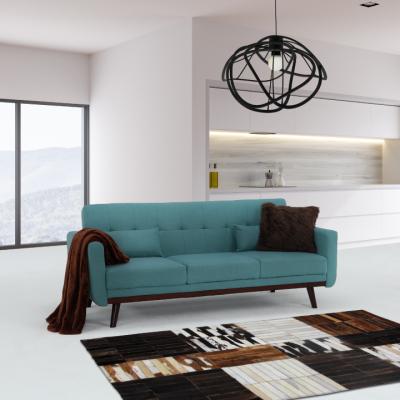 Canapea extensibilă, 200 x 85 x 85cm, turcoaz, ARKADIA