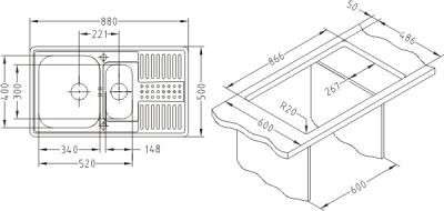 Chiuveta incastrabila Pixel 40 microleinen3