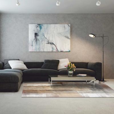 Covor 80x150 cm, maro/gri, ESMARINA TIP 11