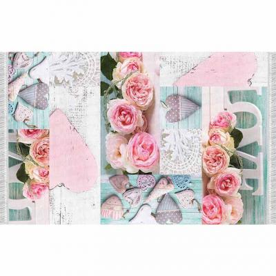 Covor Sonil Tip 2, 80x150 cm, model trandafiri, multicolor0
