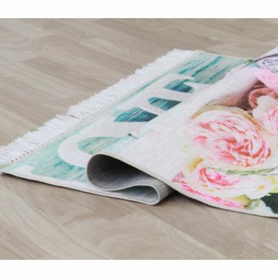Covor Sonil Tip 2, 80x150 cm, model trandafiri, multicolor1