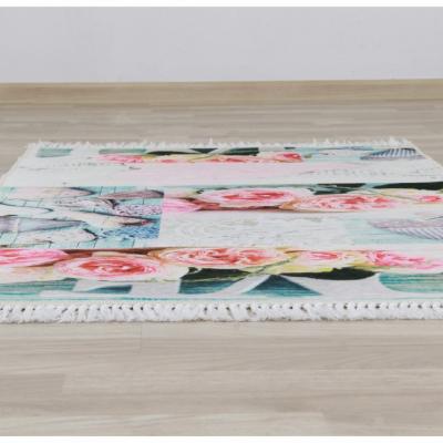 Covor Sonil Tip 2, 80x150 cm, model trandafiri, multicolor2