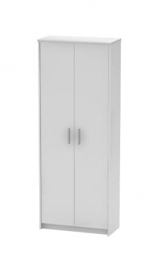Dulap birou cu polite JOHAN NEW 05, 72,5x33,8x186 cm, culoare alba0