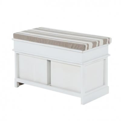Bancheta hol cu perna, SEAT BENCH 1 NEW, lemn alb2