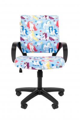 Scaun birou pentru copii  rotativ Semba 103 black model unicorn1