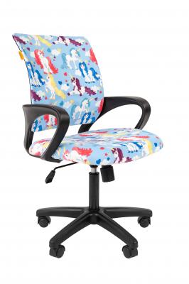 Scaun birou pentru copii  rotativ Semba 103 black model unicorn0