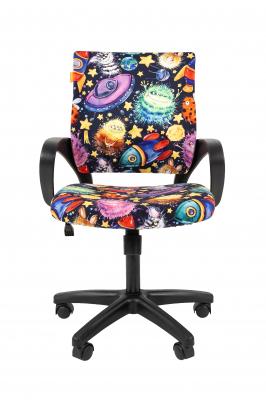 Scaun birou pentru copii  rotativ Semba 103 black model stars1