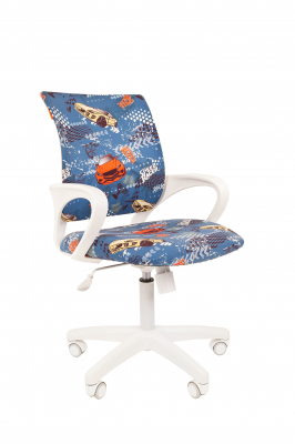 Scaun birou pentru copii  rotativ Semba 103 white model masini0