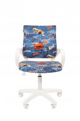 Scaun birou pentru copii  rotativ Semba 103 white model masini1