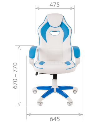 Scaun gaming rotativ Semba 16 alb/blue3