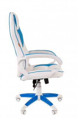 Scaun gaming rotativ Semba 16 alb/blue2