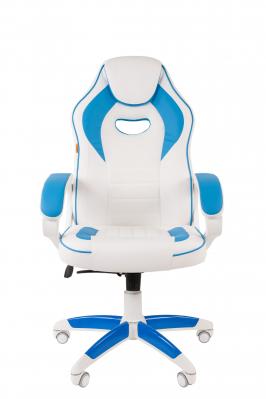 Scaun gaming rotativ Semba 16 alb/blue1
