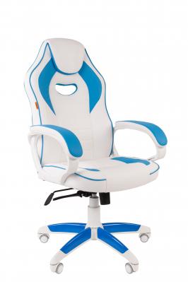 Scaun gaming rotativ Semba 16 alb/blue0