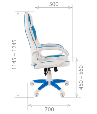 Scaun gaming rotativ Semba 16 alb/blue4