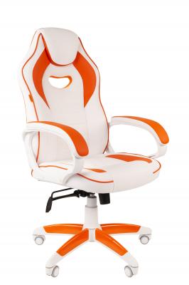 Scaun gaming rotativ Semba 16 alb/orange0
