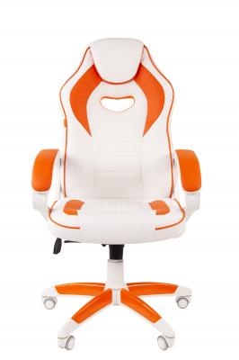 Scaun gaming rotativ Semba 16 alb/orange1
