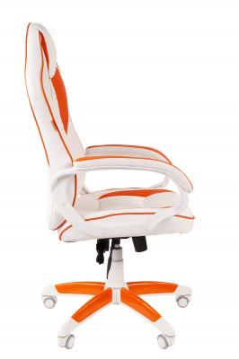Scaun gaming rotativ Semba 16 alb/orange2