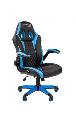 Scaun gaming rotativ Semba 15 negru/albastru  suport lombar0