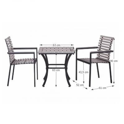 Set terasa masa cu 2 scaune Ronan