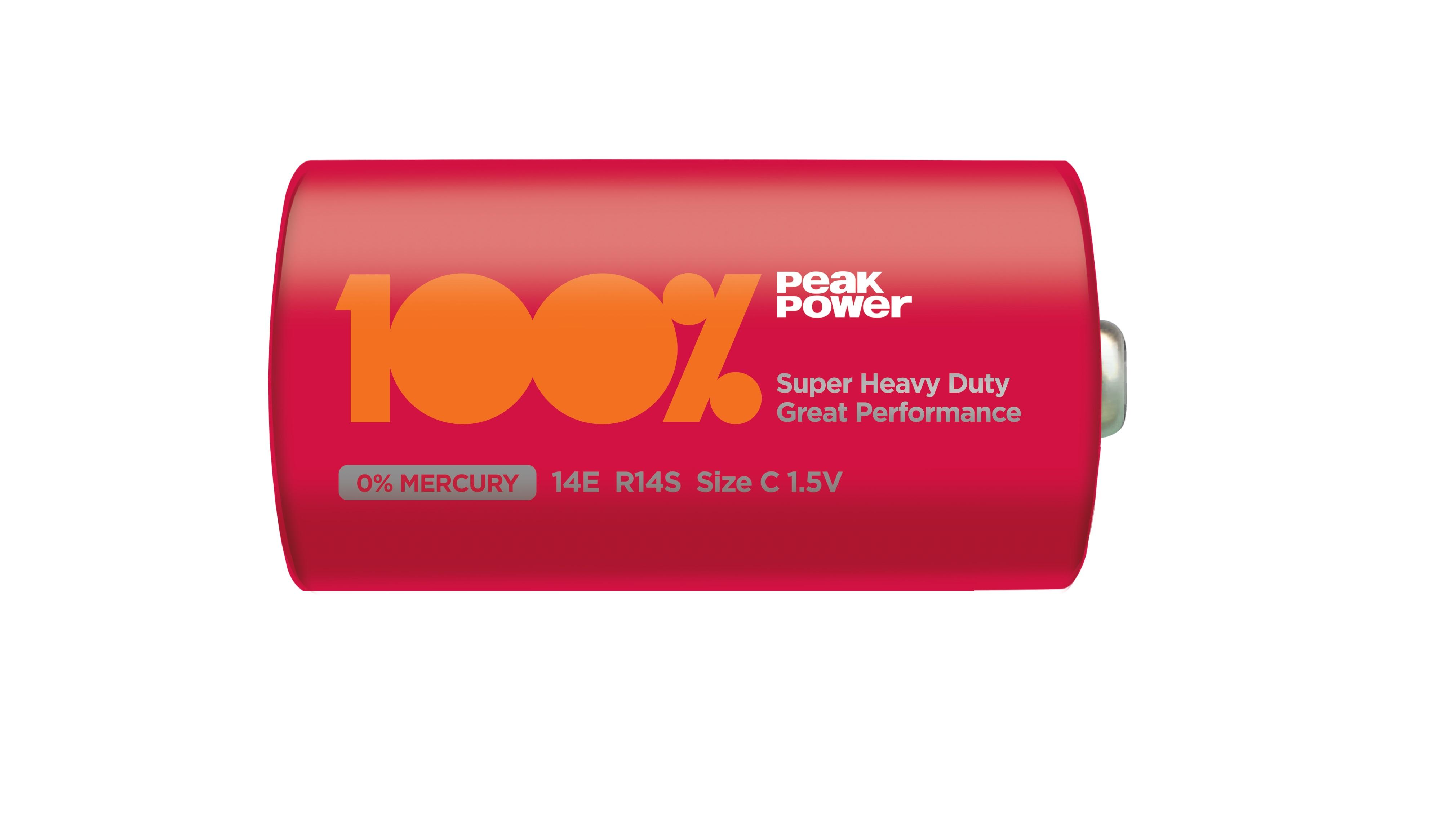 Baterie zinc carbon Peakpower R14 (C) infoliat [0]