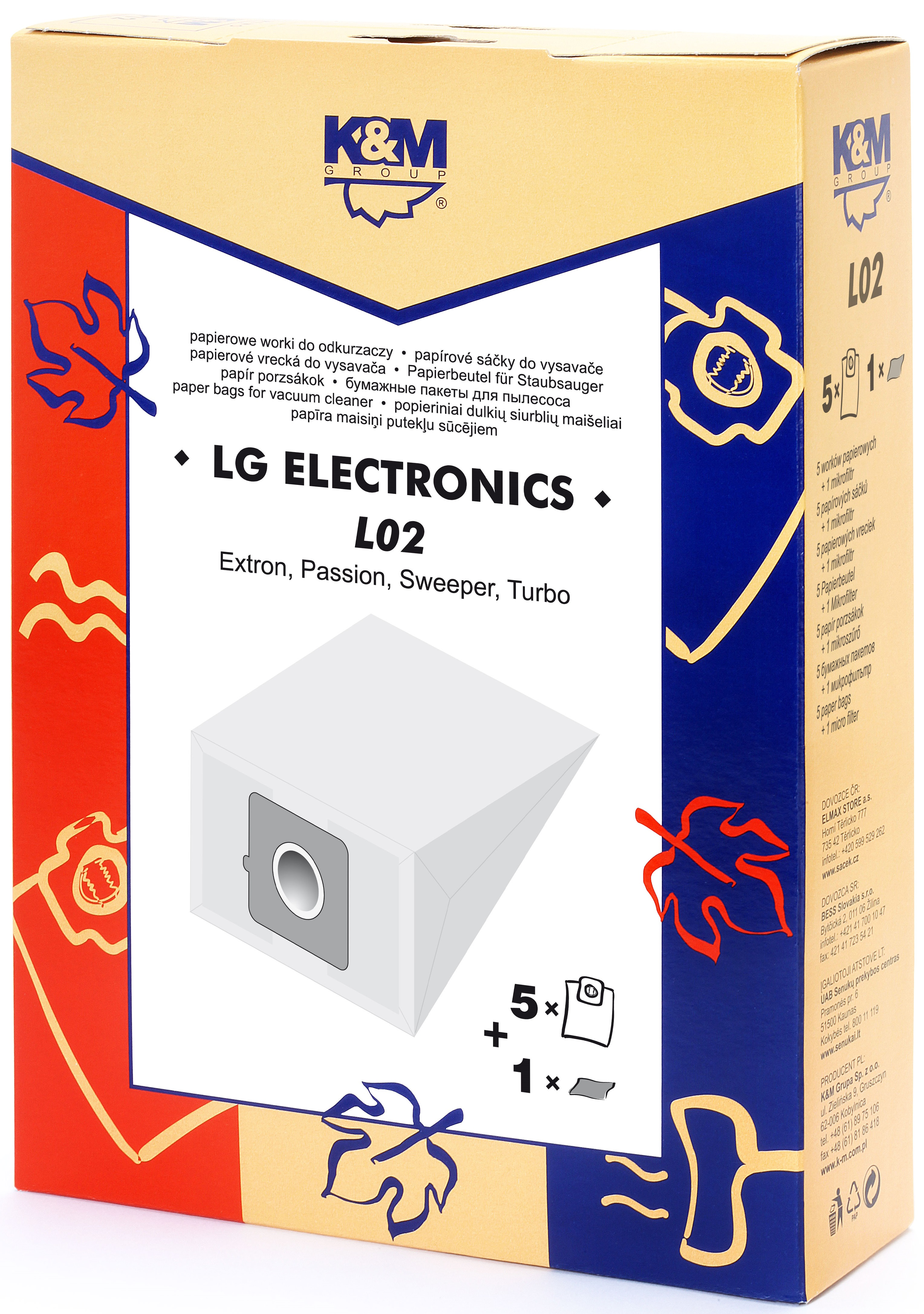 Sac aspirator LG TB-33, hartie, 5X saci + 1 filtru, K&M [0]