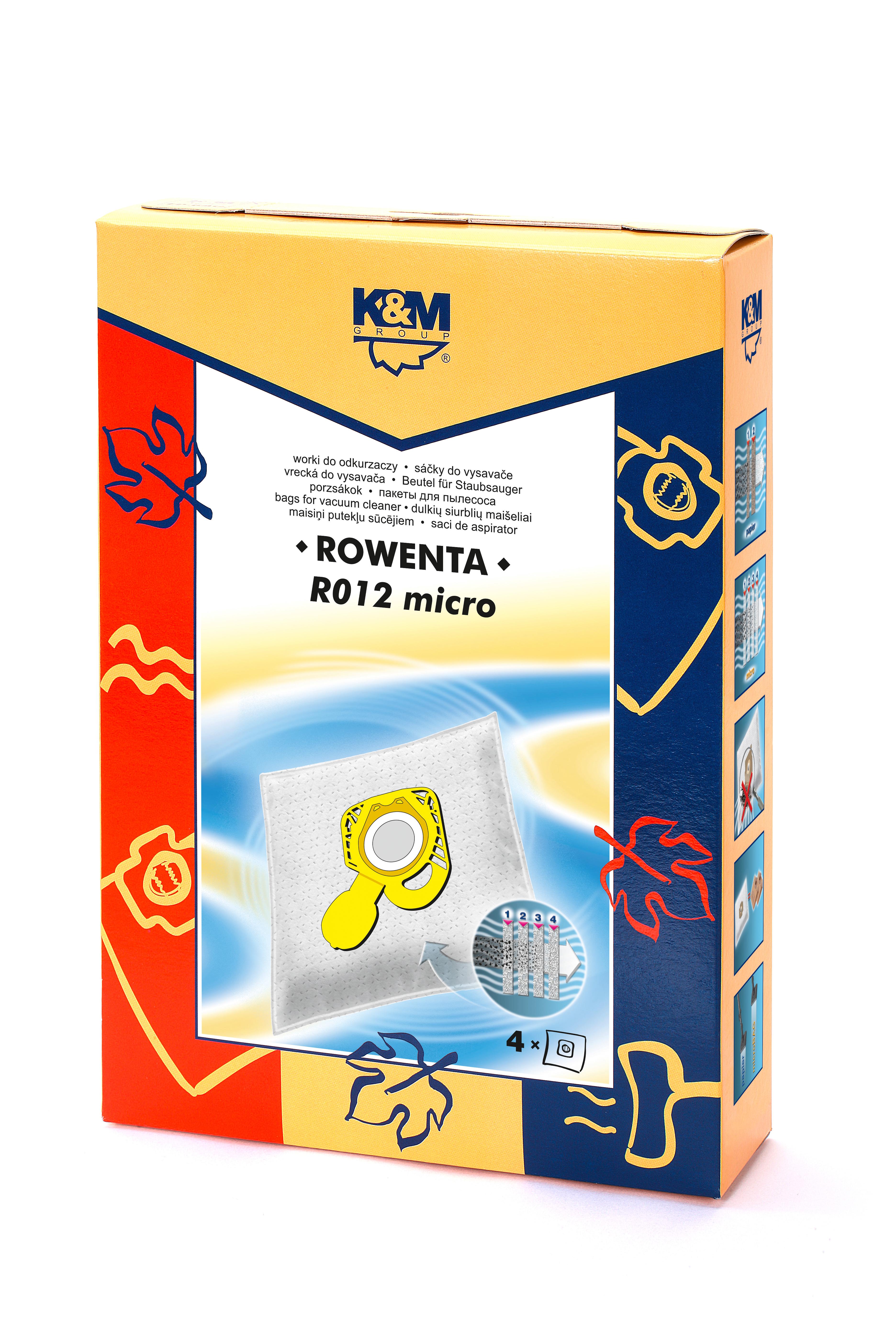 Sac aspirator Rowenta, sintetic, 4X saci, K&M 0