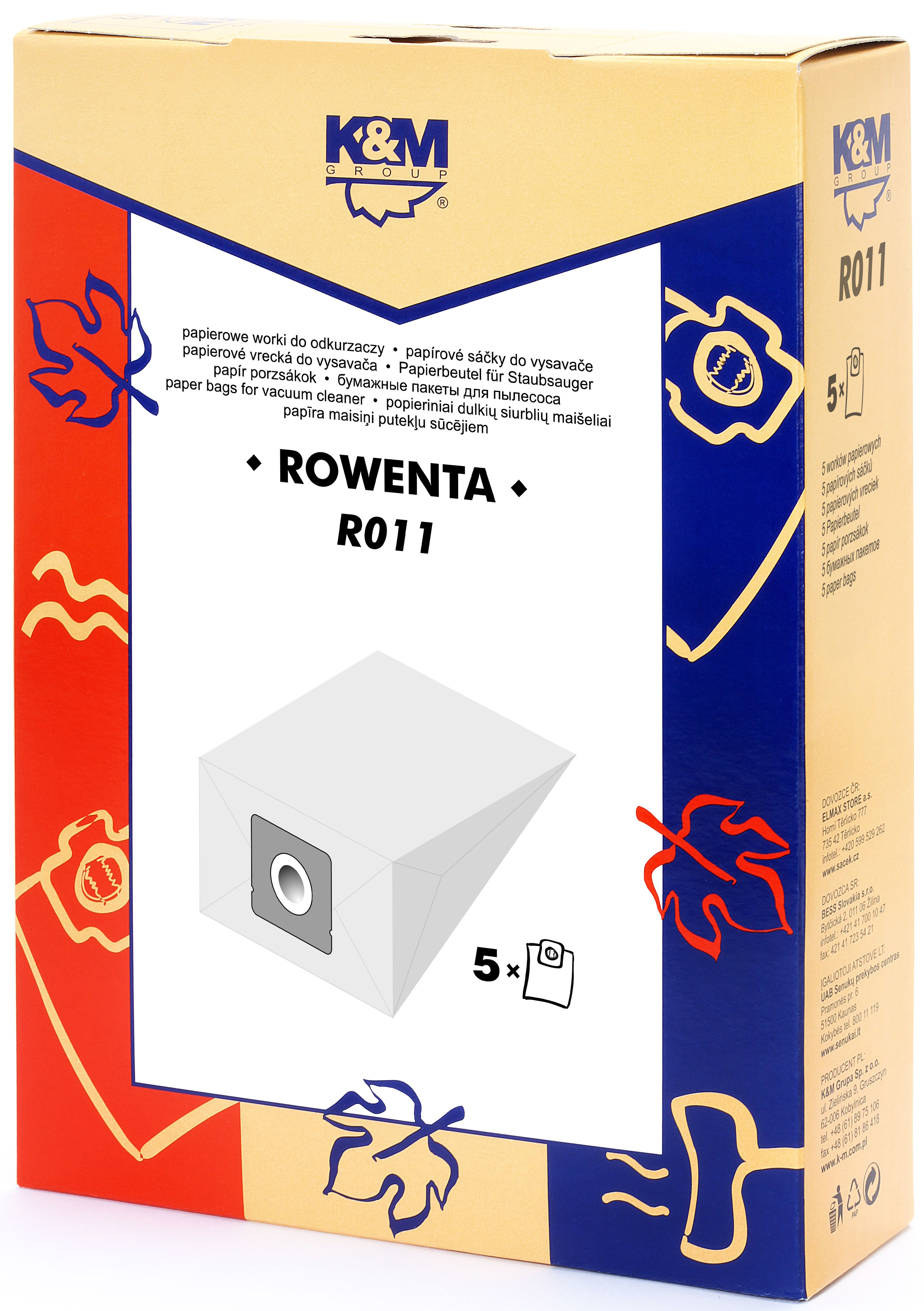 Sac aspirator Rowenta ZR 17, hartie, 5X saci, K&M 0