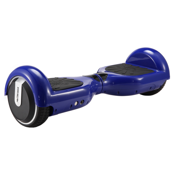 Hoverboard Electric , Megawheels, Albastru, Autonomie 15 km, Viteza max. 10km/H 4