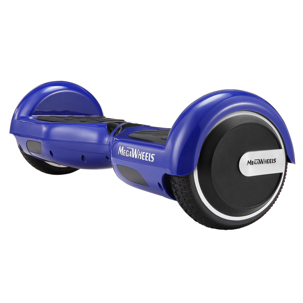 Hoverboard Electric , Megawheels, Albastru, Autonomie 15 km, Viteza max. 10km/H 5