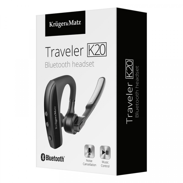HEADSET BLUETOOTH TRAVELER K20 KRUGER&MATZ 2